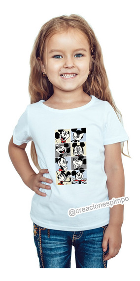 Camiseta Niña Mickey Mouse Moda Lifestyle Poliester Cpr12