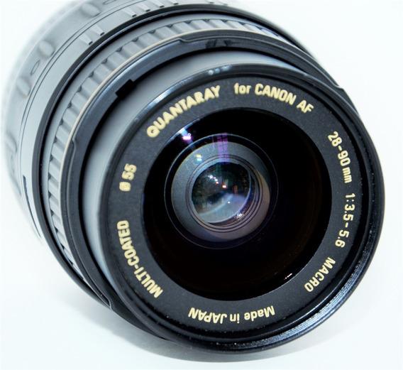 Lente Macro Canon Japan Aspherical 28-90mm Quantaray Af