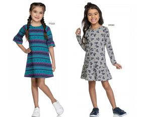 Kit 2 Vestidos Marisol Inverno 2019 Infantil Lançamento