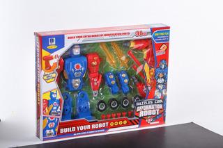 Robot Transformer C/ Luz Y Sonido Y Herramientas Jem