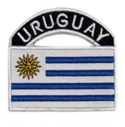 Parche Bordado Bandera Uruguay X 12 Unidades 7 X 7cm.