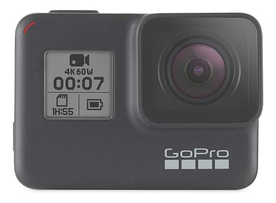 Câmera Gopro Hero 7 + Bastão De Mão + Bastão 3 Way + Cartão