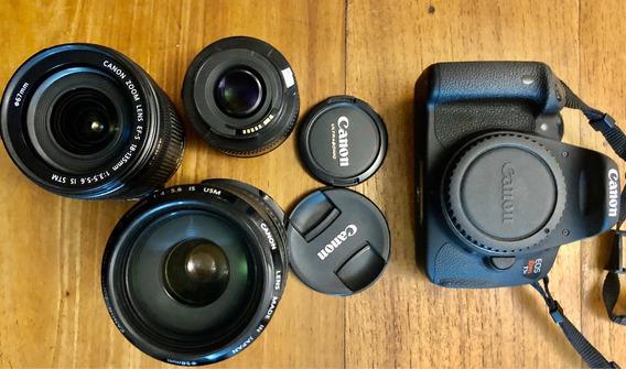Canon T5i , 1 Lente 70 300mm, 1 Lente 18 135 Mm, 1 Lente 50m