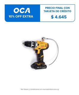 Taladro Atornillador Electrico 13mm. 18v Goldex+ Accesorios