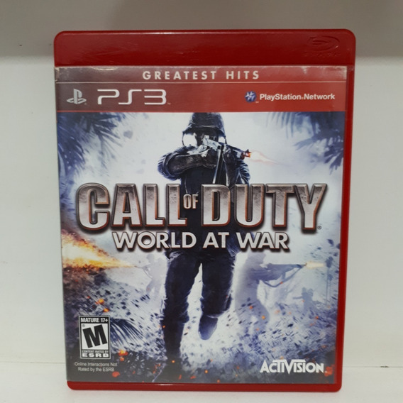 Call Of Duty World At War Jogo Ps3 Usado Mídia Física