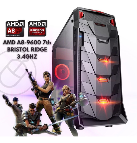 Pc Gamer Barato Amd A8-9600 16gb Ssd 240gb Video R7 2gb