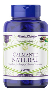 Calmante Mulungu Passiflora Valeriana 600mg 120 Caps Natural