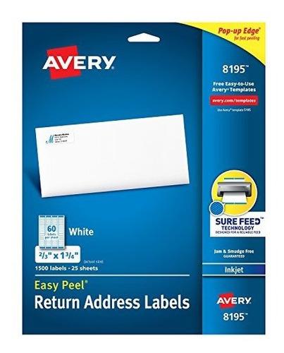 Etiquetas De Devolución De Avery Con Sure Feed Para