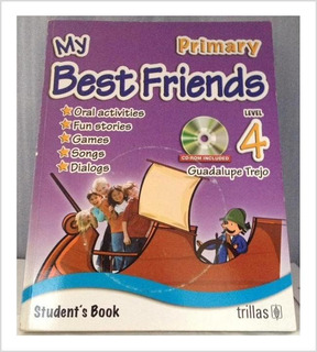 Libro De Inglés Trillas My Best Friends 4 Con Cd