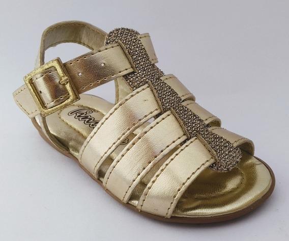 Sandália Infantil Dourada