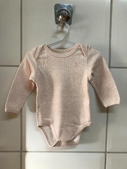 Body Milon Infantil Estampado Branco E Rosa Claro - G