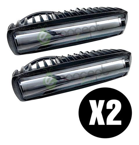 Caja X 2 Faros Reflectores 12v 24v Barra Led 20w Con Lupa