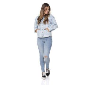 Jaqueta Feminina Jeans Tradicional Retro Denim Zero-dz9086