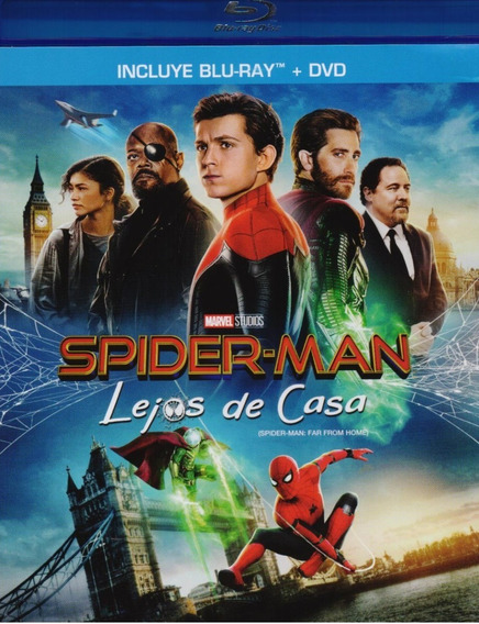 Spider-man Lejos De Casa Marvel Pelicula Blu-ray + Dvd