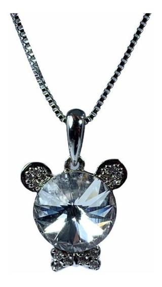 Cadena De Acero Con Forma De Mickey Mouse De Cristal