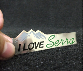 Emblema Em Metal I Love Serra Alta Qualidade