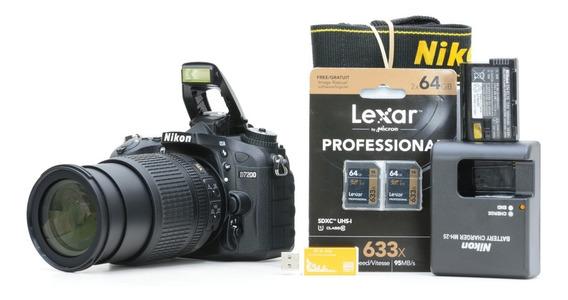 Nikon D7200 + 18-105mm + 2 Cartões 64gb 6161069
