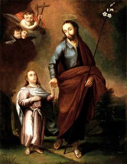 Lienzo Tela Canvas Arte Sacro San José Y Niño Jesús 100x78