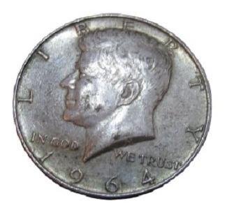 Moneda Medio Dólar 1964 - Kennedy - Plata Half Dollar