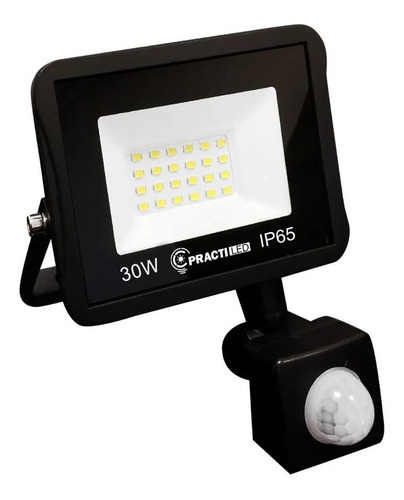 Imagen 1 de 9 de Reflector Led Sensor Movimiento Exterior 30w Luz Fria 220v