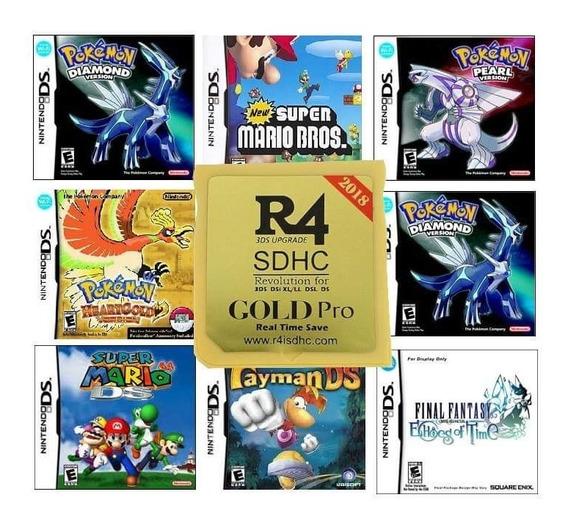 Cartao Com Jogos R4 Gold Pro Com Micro Sd 16gb Jogos Ds/3ds