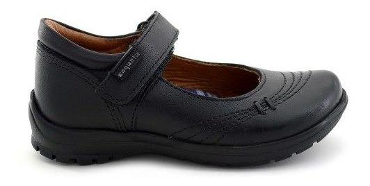 Zapato Escolar Coqueta Para Niña 54400-a Negro [cta680]