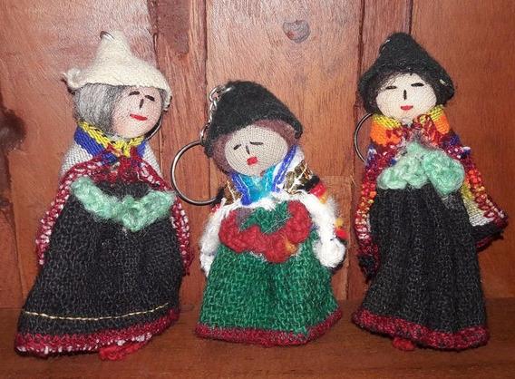 Llavero Coya Coyita - Ñustas Puyo Y Aguayo Antiguo Souvenirs