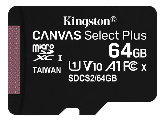 Cartão Memória Classe 10 Kingston Micro Sdxc 64gb 100r/85w