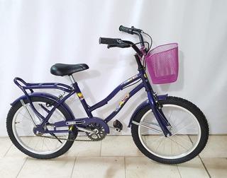 Bicicleta Paseo Rodado 16 Nena Equipada Ram