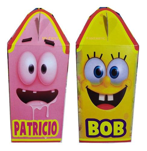 Imagen 1 de 7 de Bob Sponja & Patricio Paq 80 Cajitas Dulceras Feliz Bolo Jr