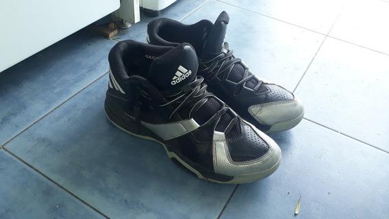 Zapatillas De Basket Talle 42 9us Negras Con Plateado