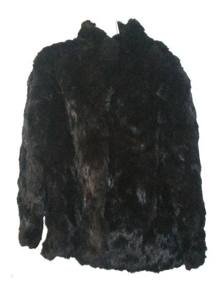 Abrigo Piel Elegante Usado Saco Pelo Conejo Talla Xl $2,590a