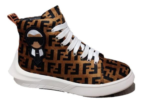 Sneakers Botín Fendi Ff Karl Lagerfeld Envío Gratis