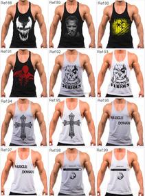 e3b54b0cce 4 Regatas Cavada Masculina Academia Musculação Fitness