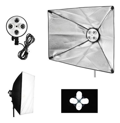 Softbox 4 Lámparas 50x70cm Luz Continua Estudio Fotográfico