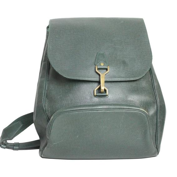 Mochila Louis Vuitton Couro Verde Vintage Louis Vuitton