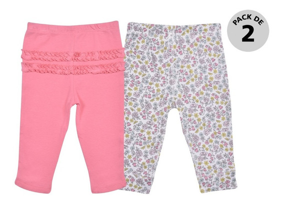 Set 2 Pzas Pantalones Carters Multicolor Niña 126h5410