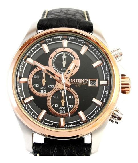 Relógio Orient Masculino Com Belíssimo Designer - Impecável