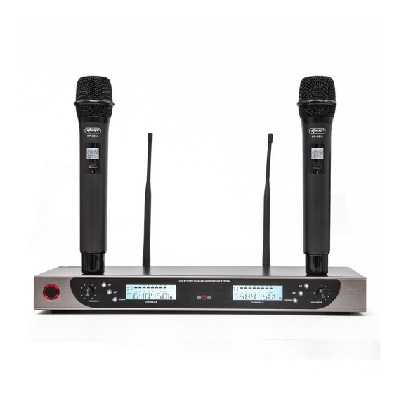 Microfones sem fios Knup KP-U914