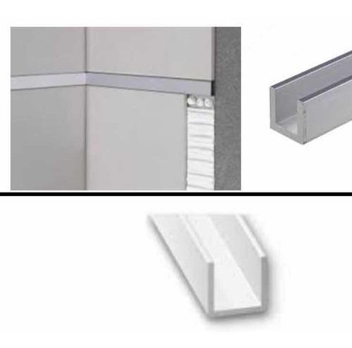 U 3/8 Perfil De Aluminio, Listero Aluminio (pack 2 Unidades)