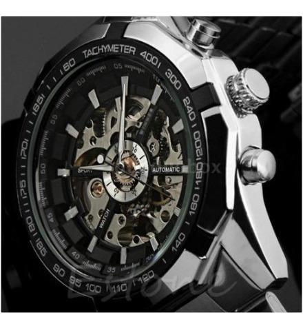 Relógio Automático/mecânico Aço Inoxidável Black