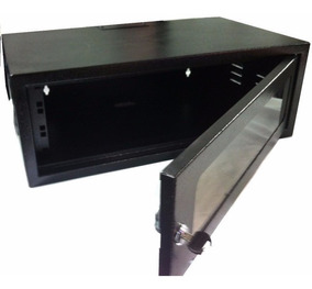 Gabinete Bracket Mini Rack Servidor 3u X 330mm Preto