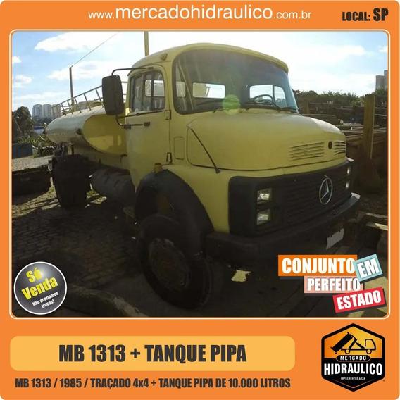 Mb 1313 Traçado 4x4 / 1985 - Tanque Pipa 10.000 Litros
