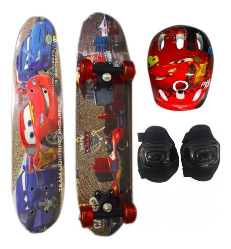 Skate Infantil Duplo C/ Acess Carros 61cm 1131201