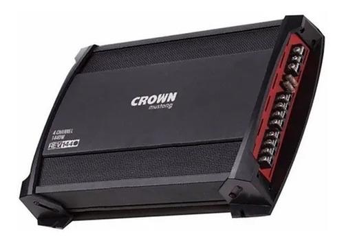Imagen 1 de 4 de Potencia Crown Mustang Rev 1440 1400 Watts 4 Canales Driver