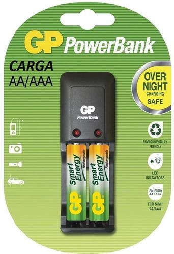 Baterías Pilas  Aa 1000 Mah  Con Cargador  Gp