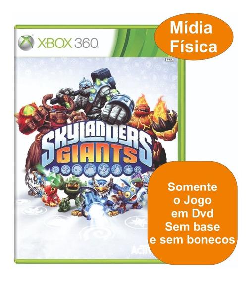 Jogo Skylanders Giants Xbox 360 Somente Dvd Original Físico