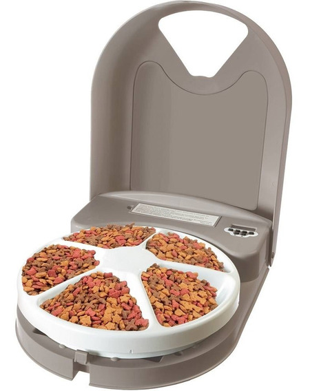 Alimentador Automatico Eletronico Caes E Gatos 5 Refeições