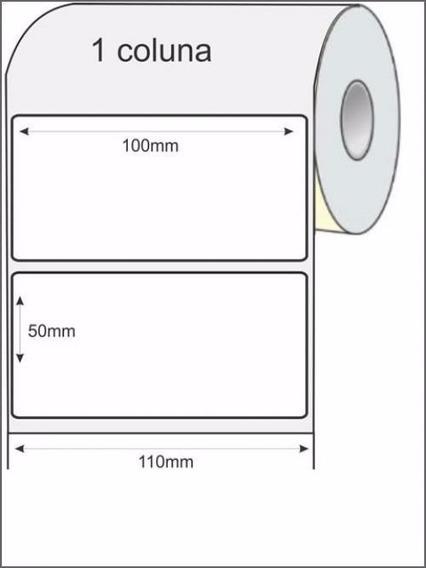 Etiqueta 100x50mm Removível - Rolo Com 500 Unidades
