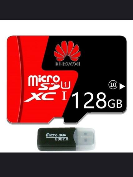 Cartão De Memória 128gb Huawei Adaptador Micro Usb